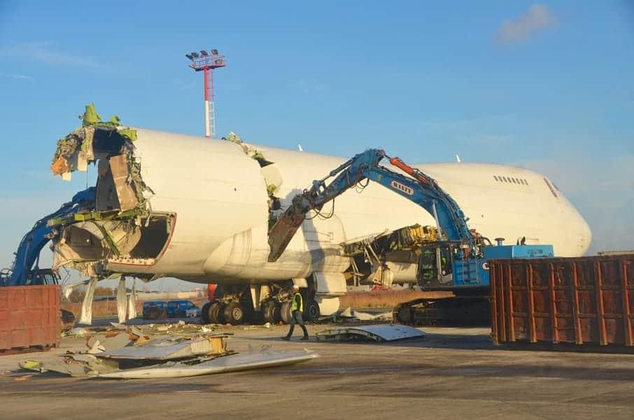 Afbraak van twee Boeings 747