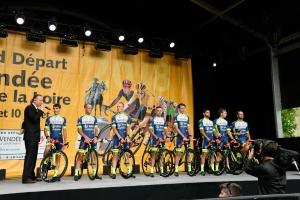 Notre équipe au grand départ du Tour de France 2018 en Vendée.