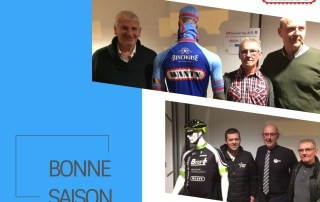 Wanty souhaite une bonne saison aux cyclistes binchois