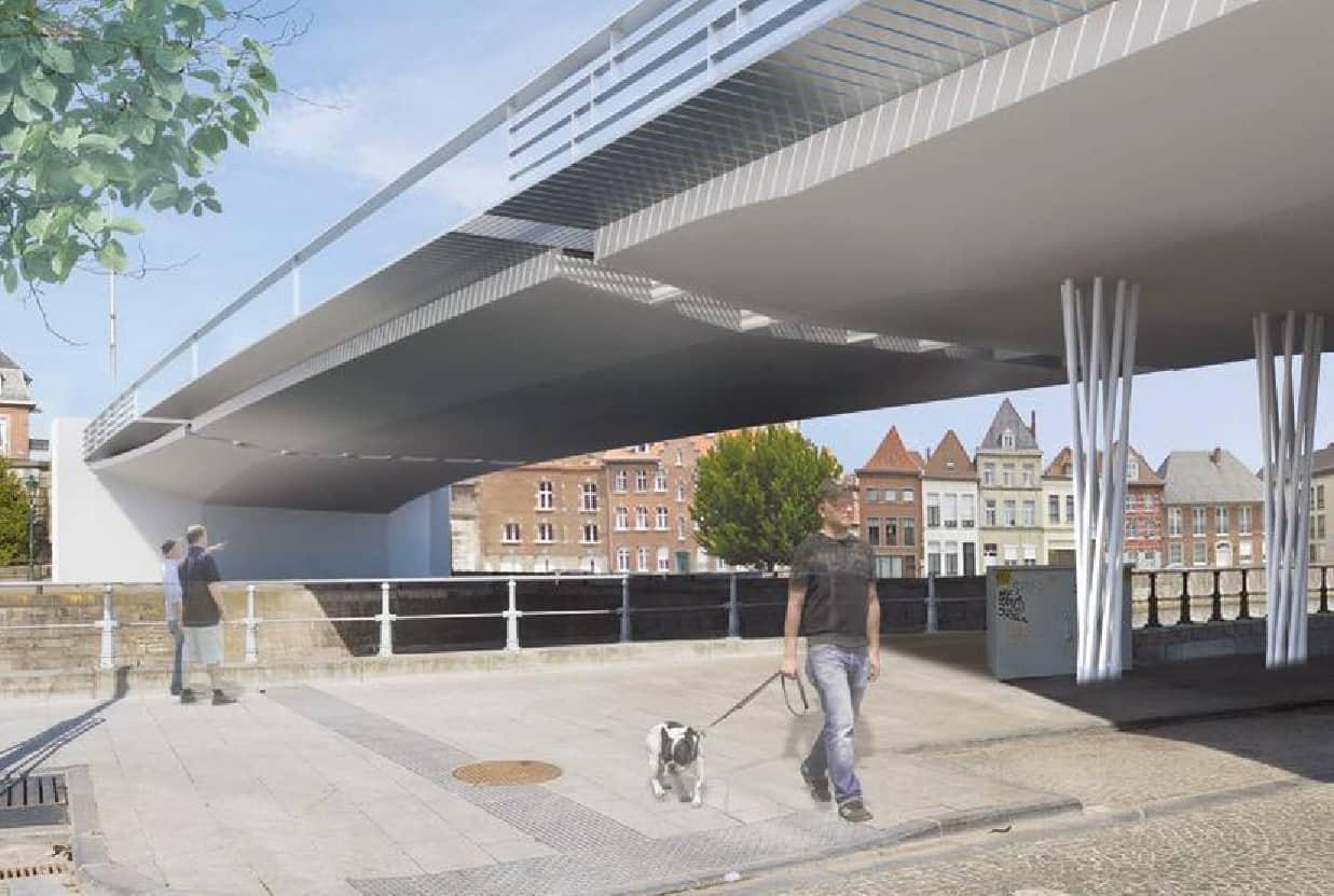 Le pont sera remplacé par une structure métallique, plus légère.