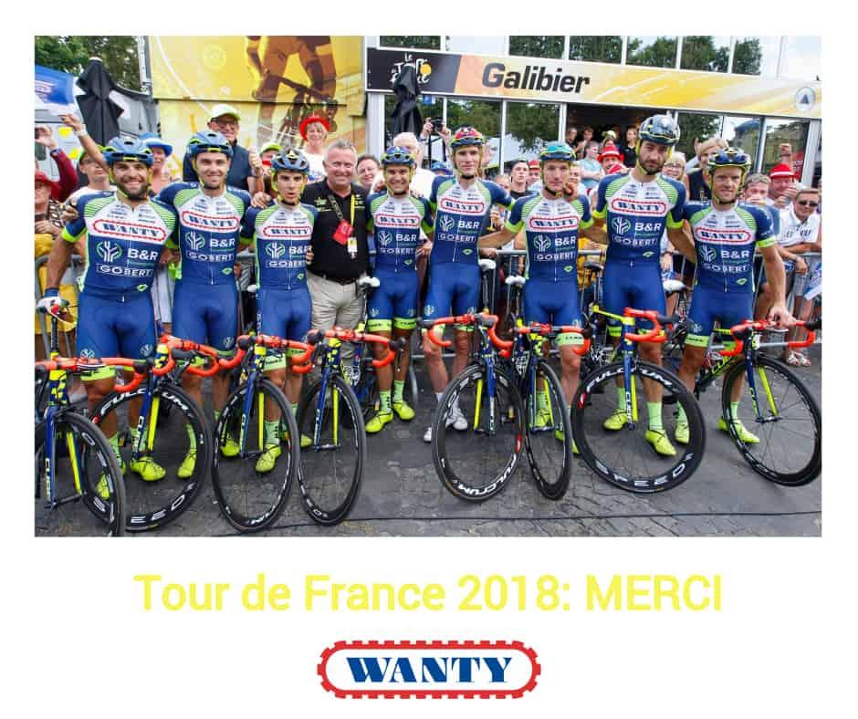 Merci pour vos nombreux encouragements sur les routes du Tour de France.