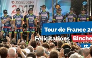 """Binche sera """"ville-départ"""" de la troisième étape du Tour de France."""