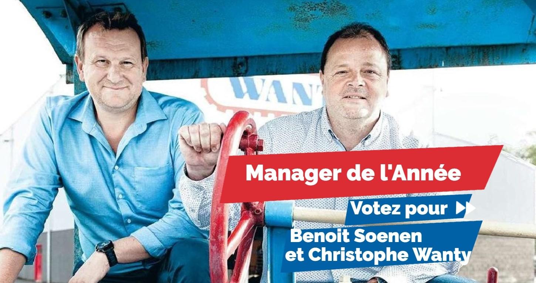 Benoit Soenen et Christophe Wanty font partie des 10 candidats sélectionnés par un jury de professionnels