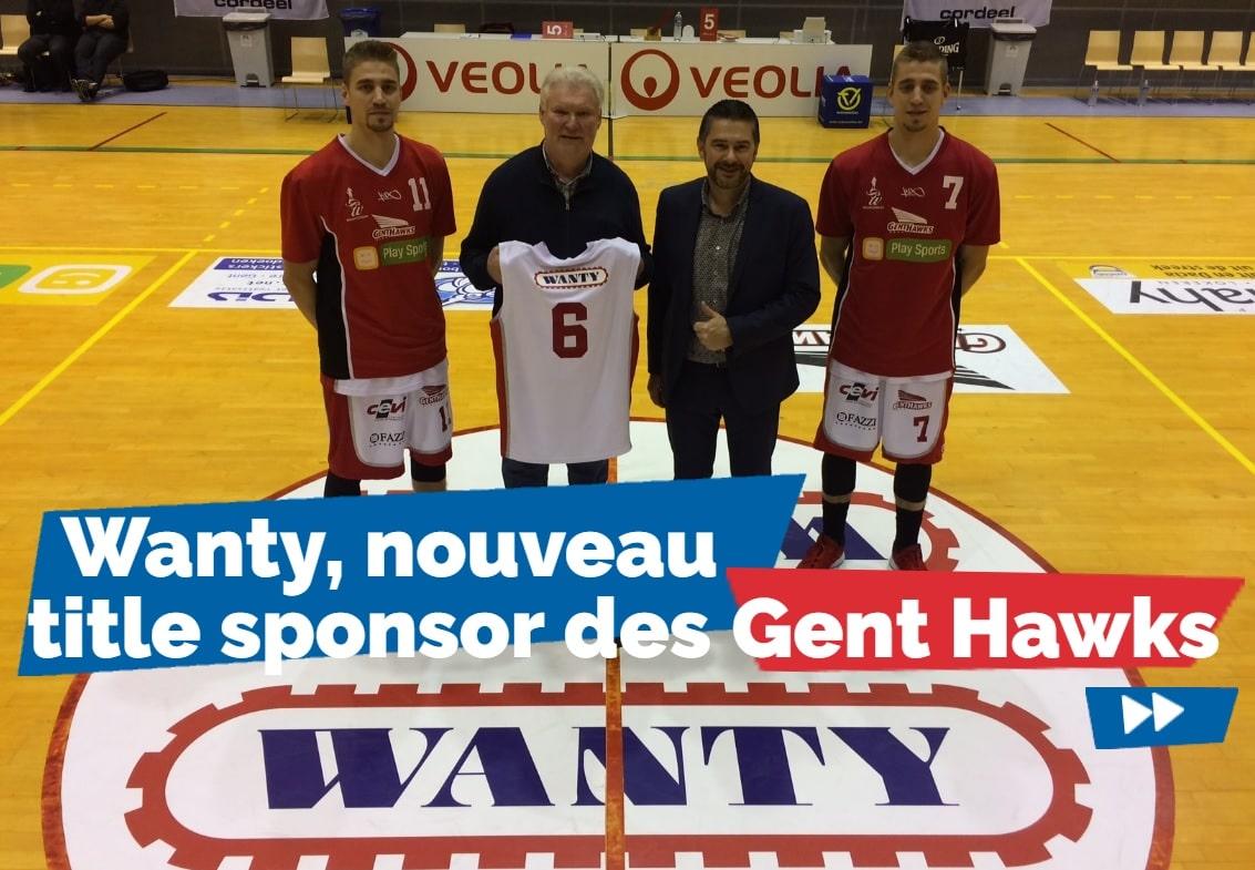 """Yannick De Clercq, le président des Wanty Gent Hawks, avec Marc Boterdaele, le responsable de notre """"Division Flandre et Bruxelles"""""""