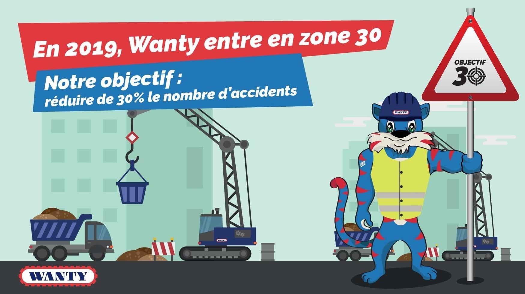 En 2019, Wanty entre en zone 30. Notre objectif: réduire de 30% le nombre d'accidents