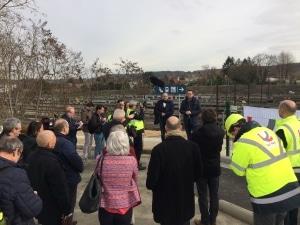 La passerelle a été inaugurée par le Ministre Bellot