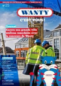 Tournai, encore une grande ville remodelée avec le concours de Wanty. Lire le magazine.