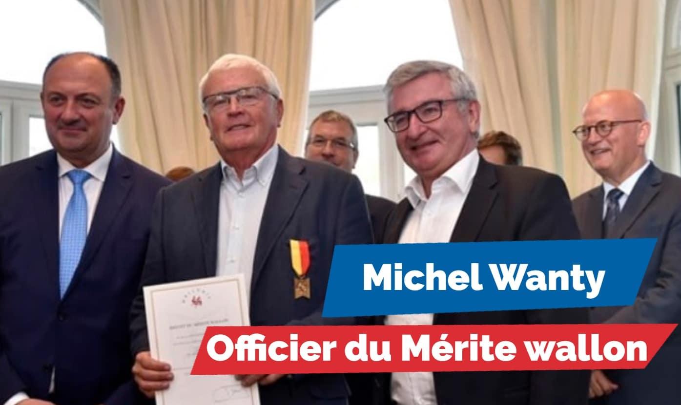 """Michel Wanty, récompensé pour """"sa carrière de visionnaire""""."""