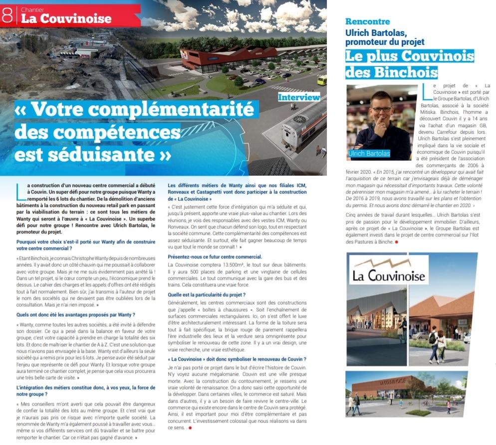 """Dans notre magazine """"Wanty C'est Vous"""", découvrez pourquoi le choix du promoteur s'est porté sur notre groupe pour la construction du retail park."""