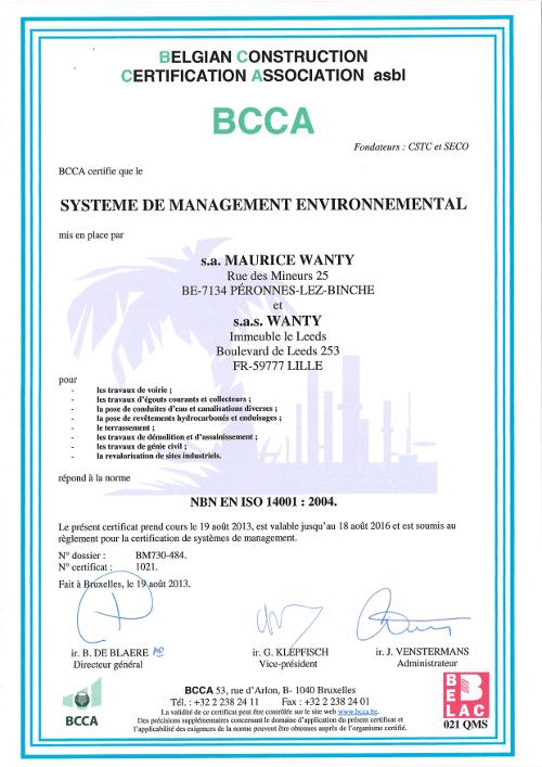 Brevet VCA 14001