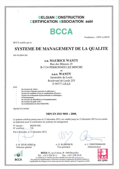 Brevet VCA 9001